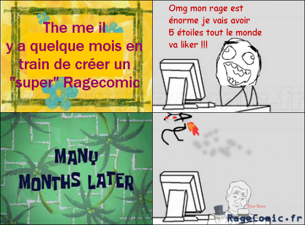 Réaction à un ancien ragecomic...