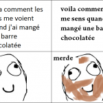 Quand je mange une barre chocolatée