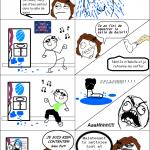 La douche matinale
