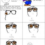 Frottage de lunettes