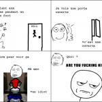 Idiot dans les toilettes