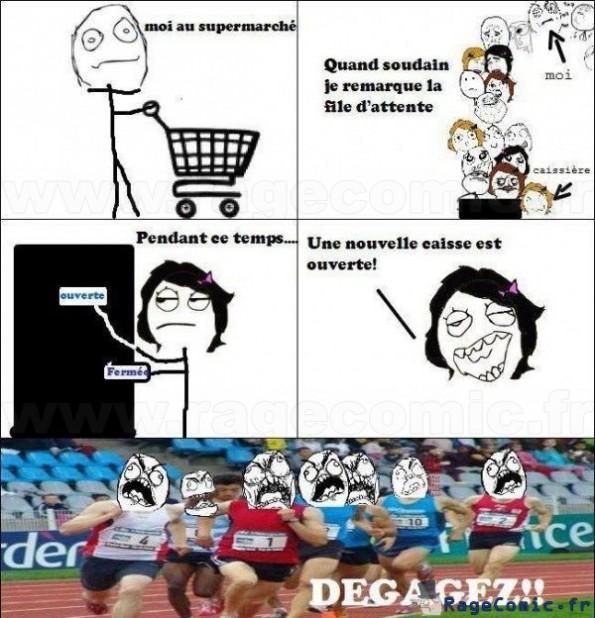 Nouvelle caisse au supermarché