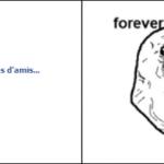 Forever alone est sur facebook !