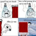 La douche....