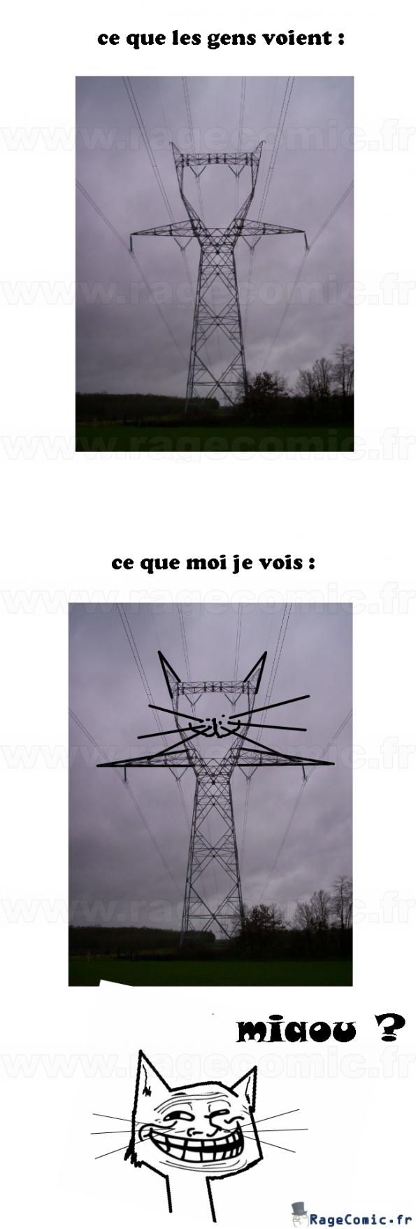 le pylône électrique