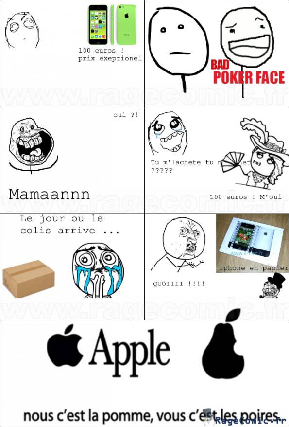 Nous c'est les pommes, vous c'est les poires !
