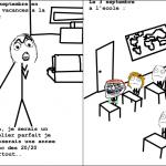 Les vancances et l'école