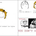 Le stress des copies