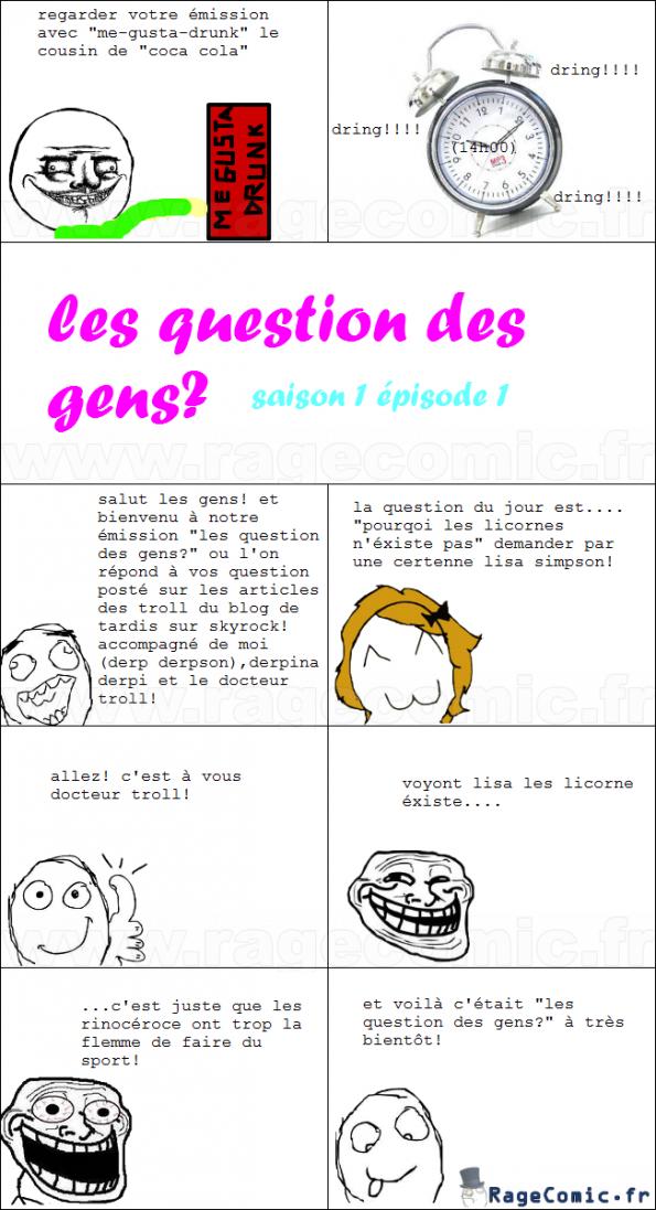 les question des gens épisode 1 saison 1