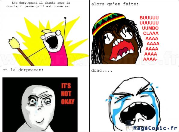 quand tu chante avec un casque...