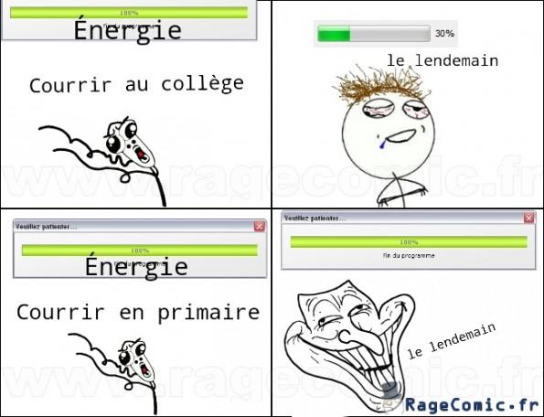 l'énergie au collège vs l'énergie en primaire