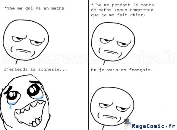 Les maths et le français