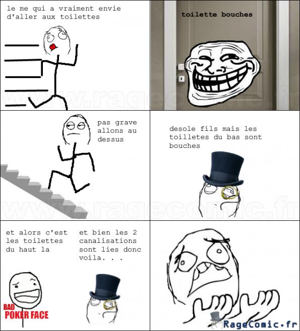 des toilettes (bouchés)