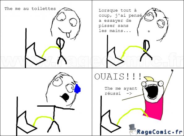 Au toilettes...