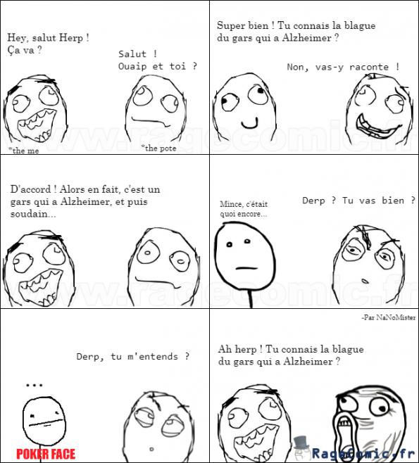 Le gars qui a Alzheimer