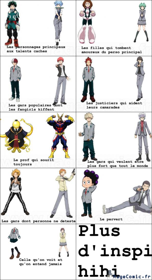 Ressemblances - My Hero Academia et Assassination Classroom